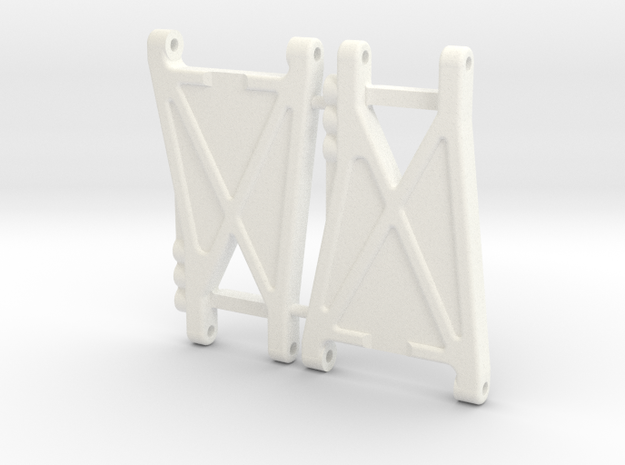 NIX92552 - B2 rear arms, Race in White Processed Versatile Plastic
