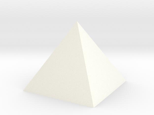 Pyramid Small in White Processed Versatile Plastic