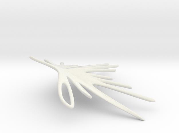 Earrings - Featherstrike LEFT in White Natural Versatile Plastic
