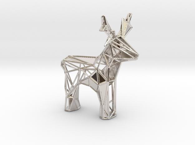 Reindeer toy stl in Platinum