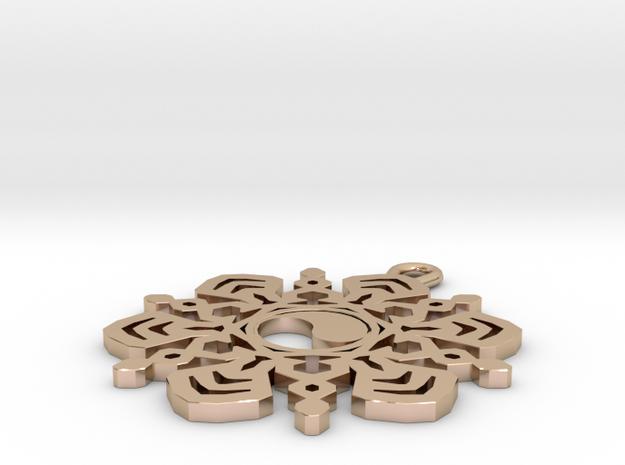 Yin Yang Snowflake Pendant 3d printed