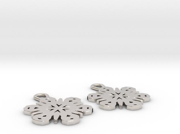 Small Snowflake Earrings 3d printed
