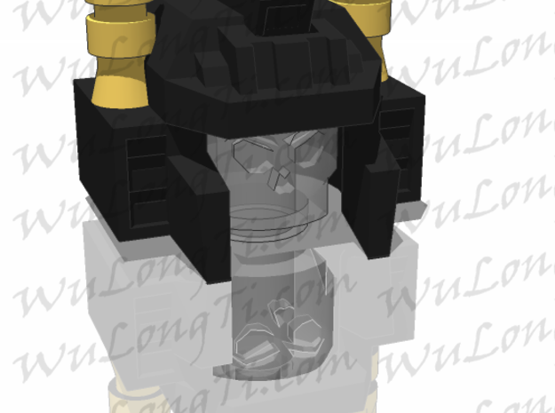 Kreon Combiner - Aerial Helmet in White Strong & Flexible Polished