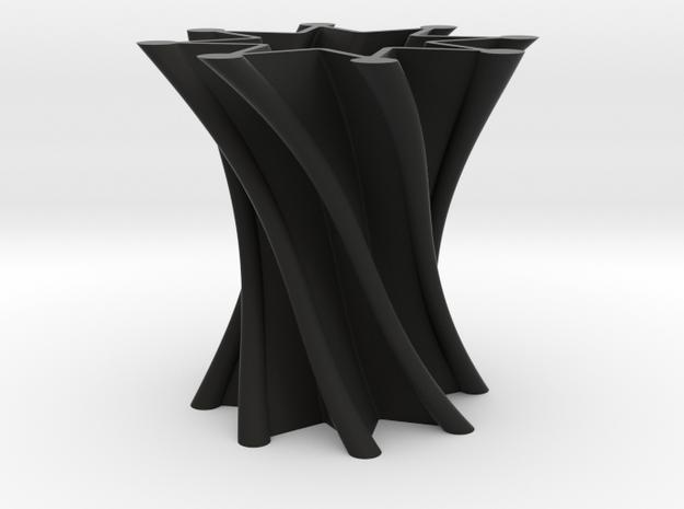 Vase01 in Black Strong & Flexible