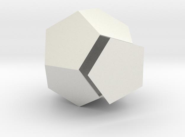 Duodecedron Planus Solidus in White Natural Versatile Plastic