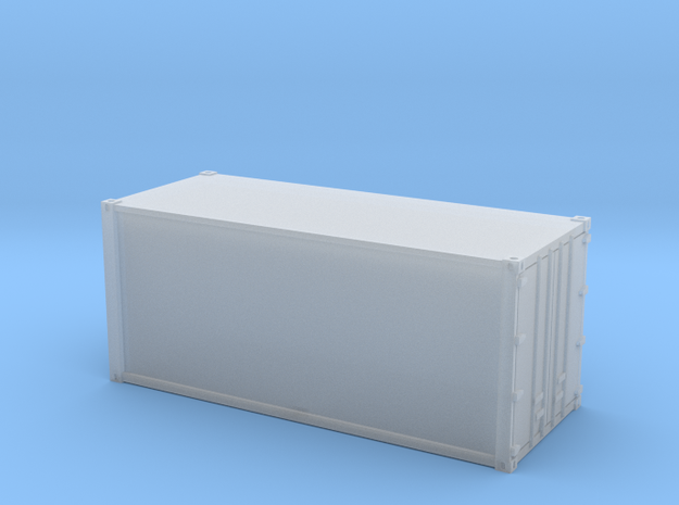 20ft Container Smooth, (N Scale, 1:160) in Smooth Fine Detail Plastic