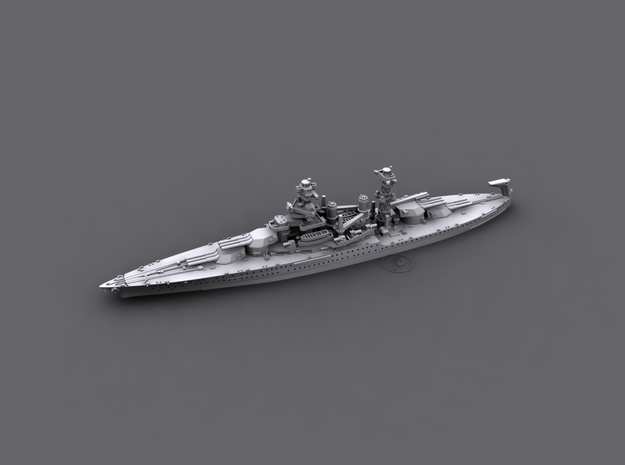 1/1800 US BB43 Tennessee [1941] in White Strong & Flexible
