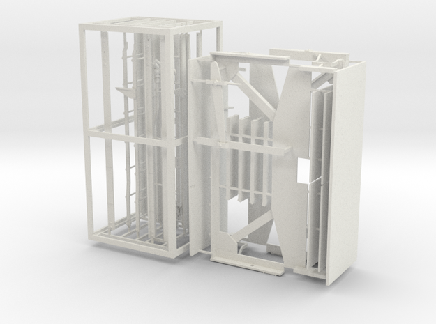PS2 CD 4427 end railings in White Strong & Flexible