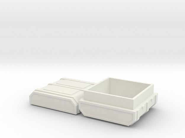 FTM Square Ammo in White Natural Versatile Plastic