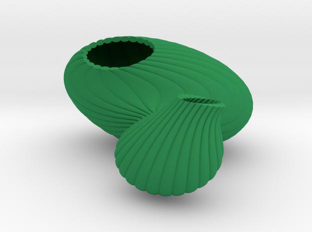 x-Vase vase nice   in Green Processed Versatile Plastic