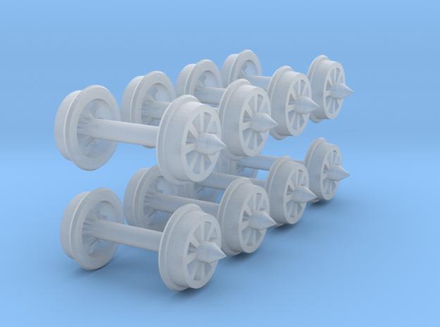 Wheel48 8Spoke5mm5 01 in Smooth Fine Detail Plastic