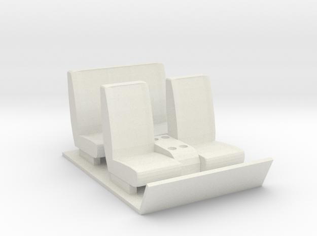 Gmc 5500 interior (Crew Cab) in White Strong & Flexible