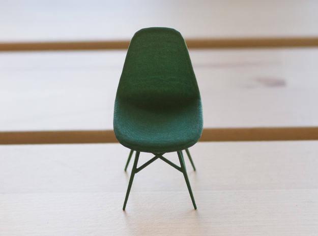 Eames Side Chair - 6.8cm tall in White Natural Versatile Plastic