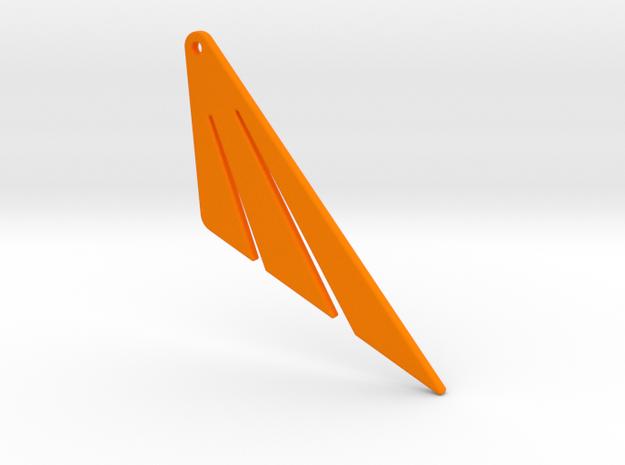 Nows Earings in Orange Processed Versatile Plastic