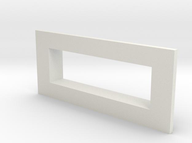 sxmini Square Bezel in White Natural Versatile Plastic