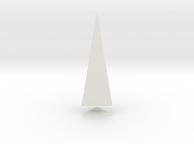 Pyramis Laterata Triangula Solida in White Natural Versatile Plastic