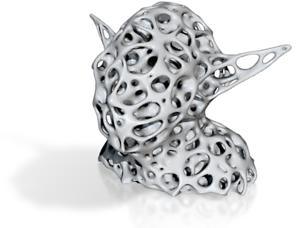 3D Voronoi Yoda - By Dizingof 3d printed