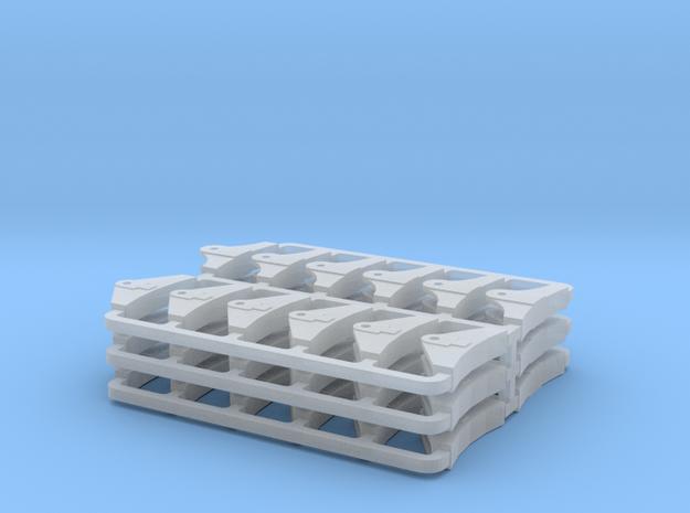 GER Brake Blocks - 3 sets in Smooth Fine Detail Plastic