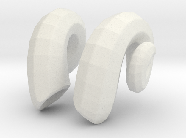 Ram Horns: MSD 1/4 bjd doll mini 3d printed