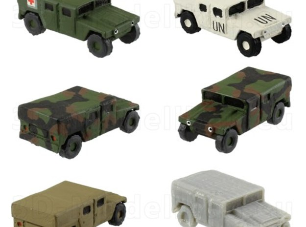 1/144 US Army M1035 canvas Humvee HMMWV Hummer H1 in White Natural Versatile Plastic