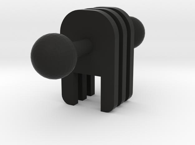 Simple Ball Joint in Black Natural Versatile Plastic