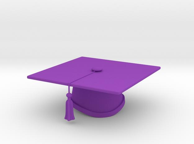 Graduation Cap - One Color in Purple Processed Versatile Plastic