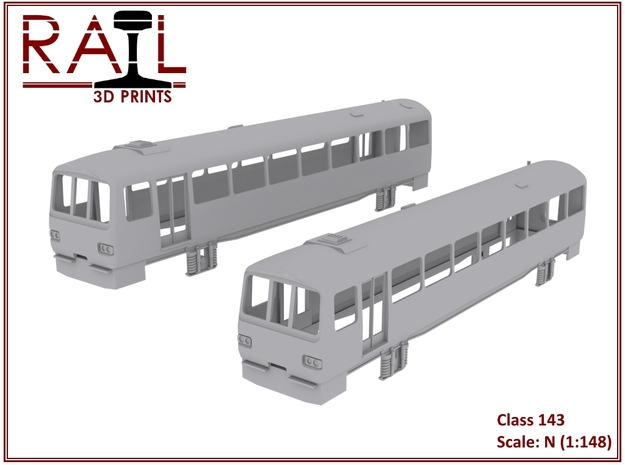 N Scale Class 143 in Smooth Fine Detail Plastic