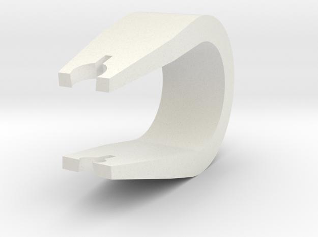 Trig Clip in White Natural Versatile Plastic