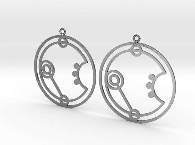 Irene - Earrings - Series 1 in Polished Silver