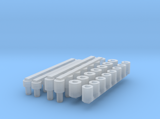 Arm Small Vessel Pegs And Holes in Smooth Fine Detail Plastic