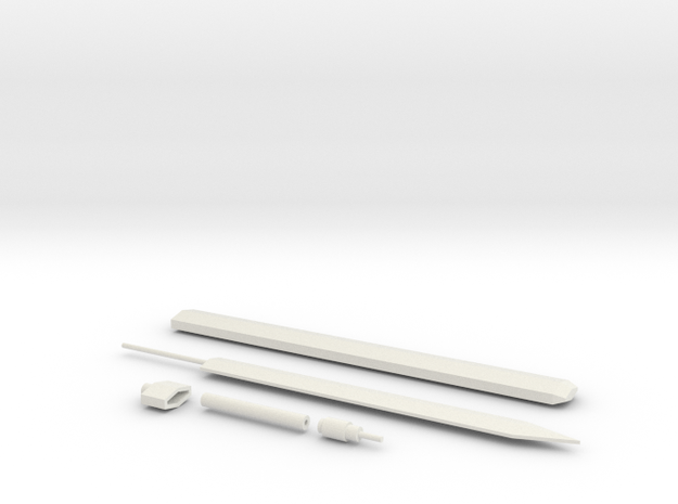 Short Sword Type A Mk III for 1/00 Gundam Kits in White Natural Versatile Plastic