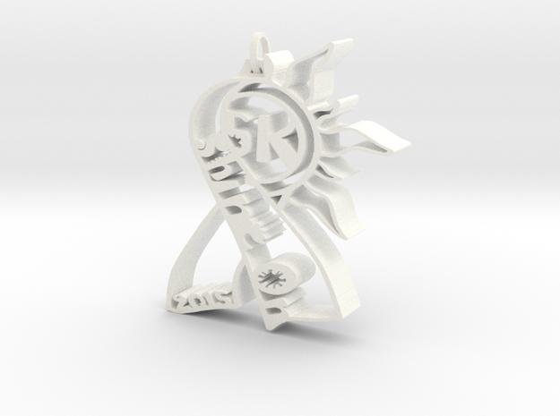 Shine On 5k pendant for Skin Cancer Fundraiser in White Processed Versatile Plastic