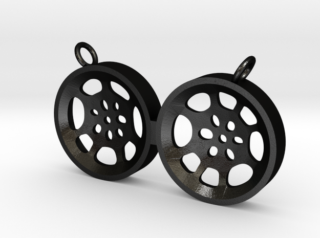 "Double Tenor ""void"" steelpan pendant, M in Matte Black Steel"
