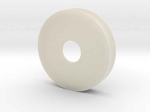 35 Mm Petri Dish With 10 Mm Hole non-transparent in White Acrylic