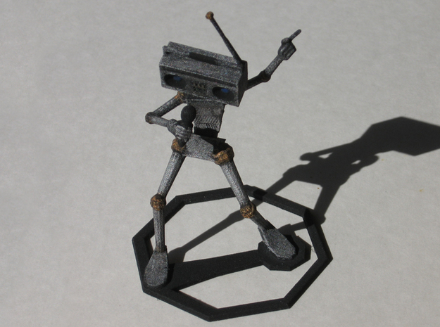 Musical Robot 3d printed Painted WSF