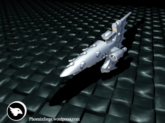 Lupia Class Frigate in White Strong & Flexible Polished