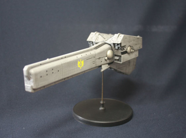 LoGH Imperial Battleship 1:3000 (Part 1/2) in White Strong & Flexible
