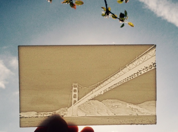 Golden Gate Lithography in White Strong & Flexible