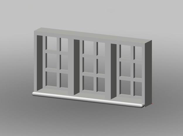 15x8mm Fenster 3-Teilig, 1:160 in Frosted Ultra Detail