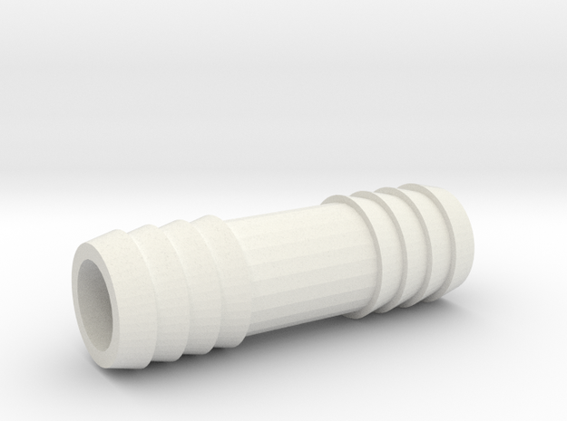 5/8 Inch Hose Barb in White Natural Versatile Plastic