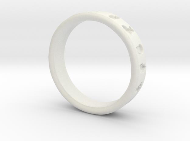 PokemonRing - Size 9 Test in White Natural Versatile Plastic