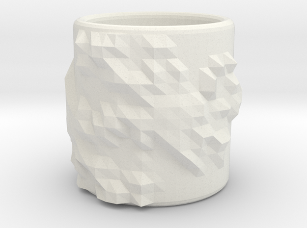 Triangle Surface Cup - Julia Set 0 (Small Size) 3d printed