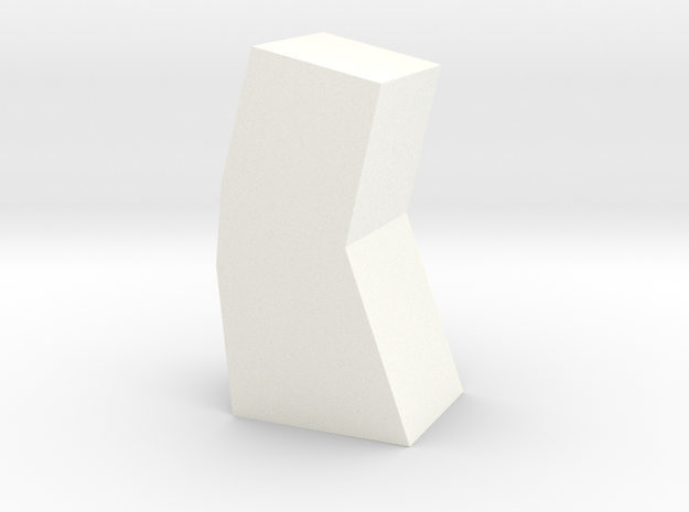 Game Piece, Alien Artifact Token in White Processed Versatile Plastic