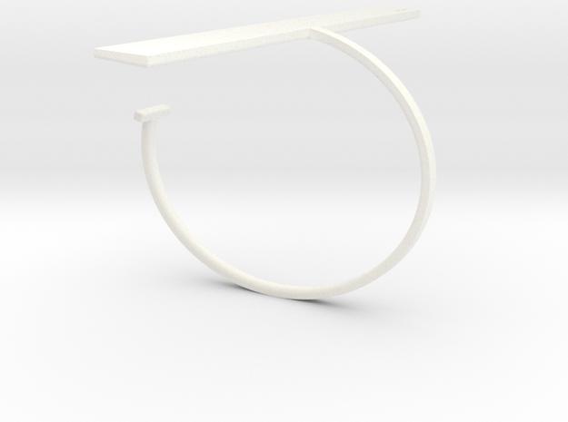 a r c h i t e c t s series - Bracelet Ruler in White Processed Versatile Plastic