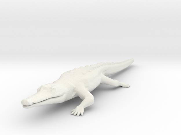 Croc/Alligator in White Natural Versatile Plastic
