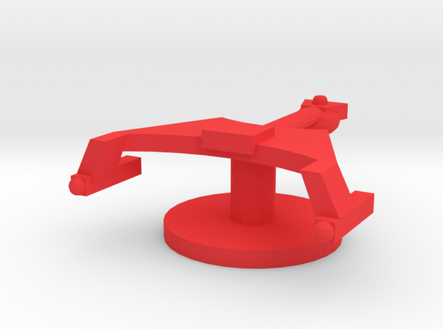 Starship K Token in Red Strong & Flexible Polished