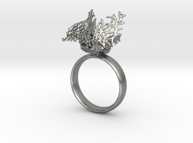 Celtic Bird  Ring in Natural Silver