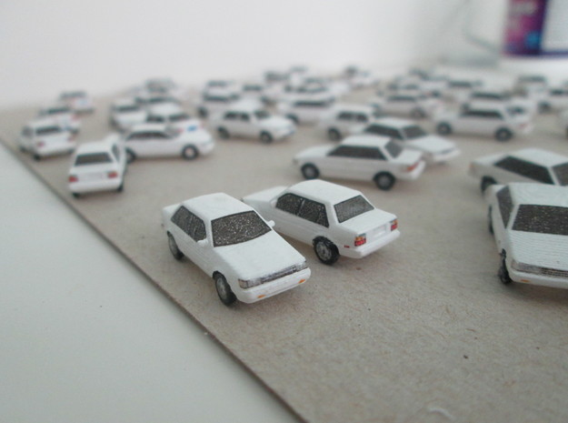 n scale 1984-1987 toyota corolla in Smooth Fine Detail Plastic
