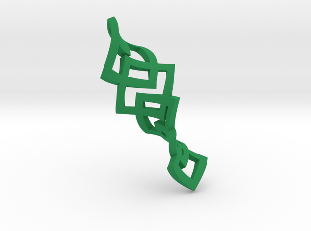 Flexxx Earrings in Green Processed Versatile Plastic