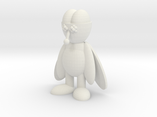 Brainy Fly Toy - Bartbootlegs.com in White Strong & Flexible